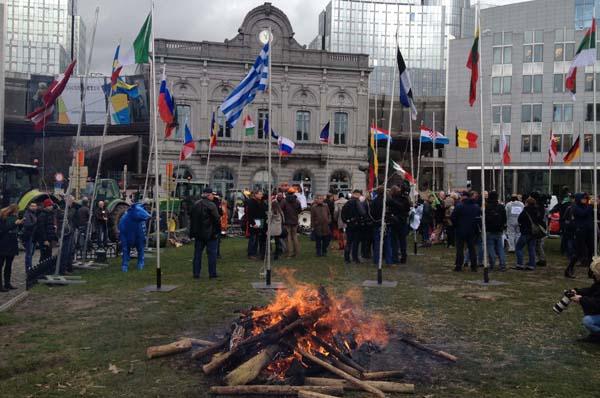 EU quota protest