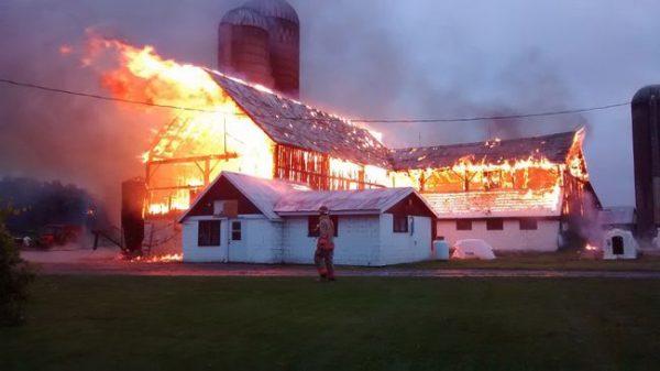 Belleville barn fire