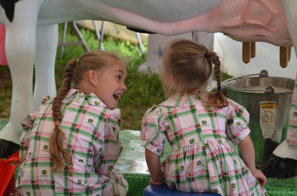 girls milking