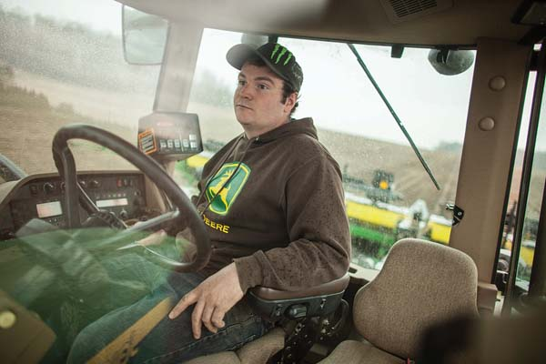 Luke McClary plants corn in his field near Arva Ontario,   May 5.  Farmers Forum/ Geoff Robins