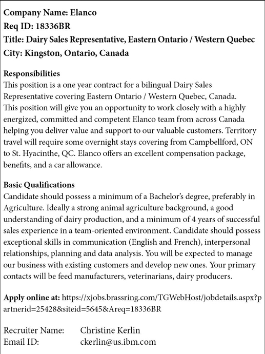 ELANCO JOB AD