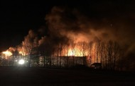 WESTERN ONTARIO: Major barn fire at Drayton