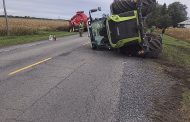 EASTERN ONTARIO: Manure tanker flips tractor at St. Isidore