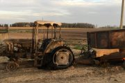 WESTERN ONTARIO: Tractor catches fire at Listowel-area farm; nobody hurt, $140,000 in damage