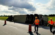 WESTERN ONTARIO: Livestock truck rolls over just outside Guelph