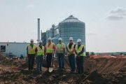 WORLD'S LARGEST GRAIN BIN IN IOWA: At 156 ft. tall it will hold 2.2 million bushels of grain