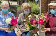 Trenton flower farm and students team up to give bouquets to LTC residents