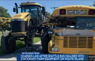 Bus crashes into sprayer on Wolfe Island; four sent to hospital with non-life-threatening injuries