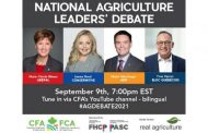 Canadian Federation of Agriculture hosts National Agriculture Leaders' Debate tonight, Sept. 9